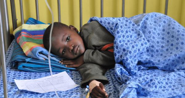 Un letto in pediatria in Sud Sudan - Insieme si può