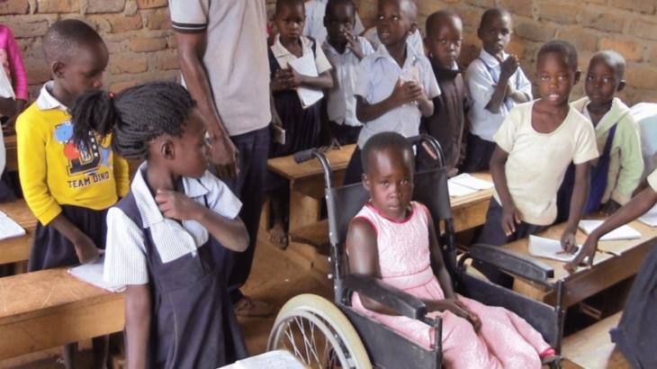 Evelina a scuola in Uganda