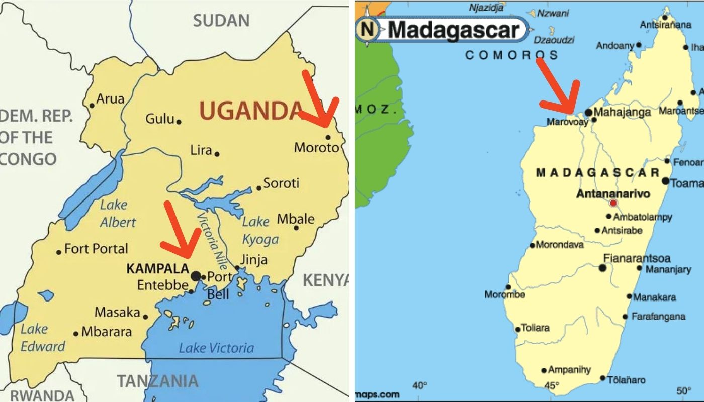 Uganda e Madagascar