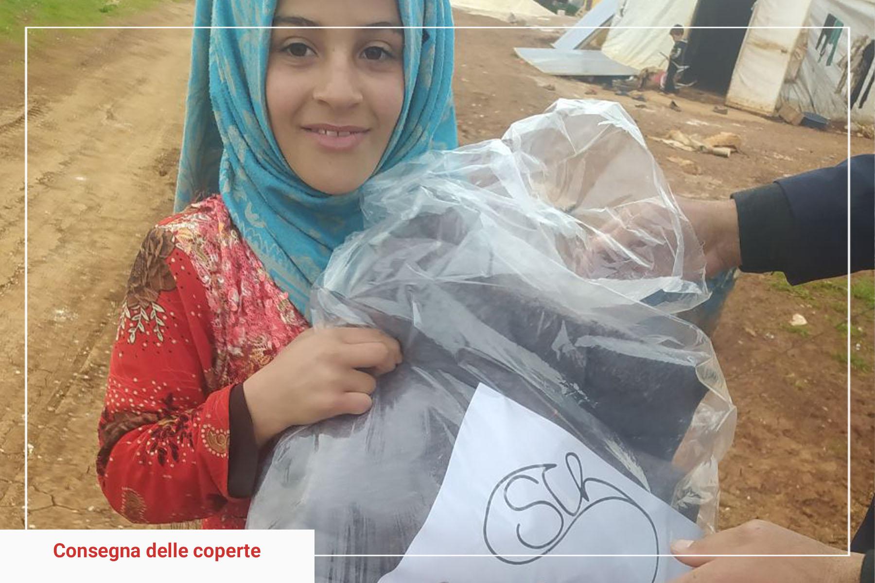 Consegna coperte Siria